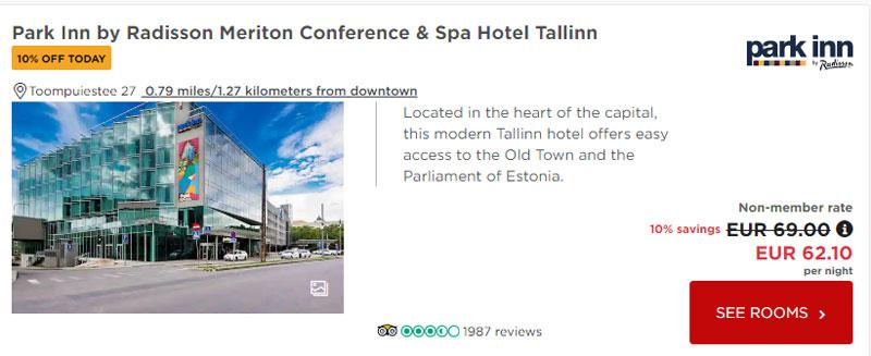 Radisson: Приклад бронювання номера в Таллінні
