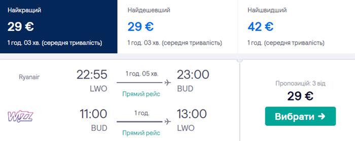 Львів - Будапешт - Львів від €29