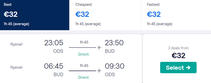 Одеса - Будапешт - Одеса від €32