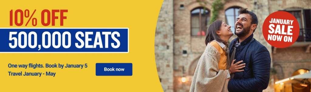 Розпродаж Ryanair 500 тисяч квитків