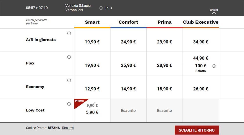 Квитки Венеція - Верона зі знижкою 40% по промокоду BEFANA