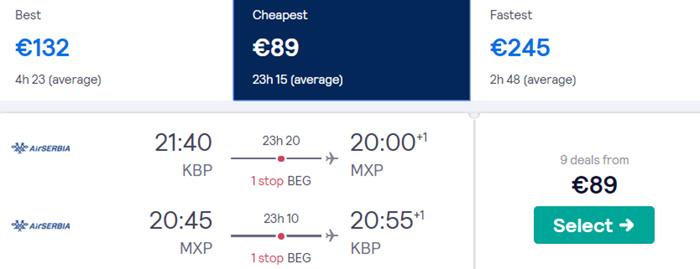 Київ - Мілан - Київ від €89