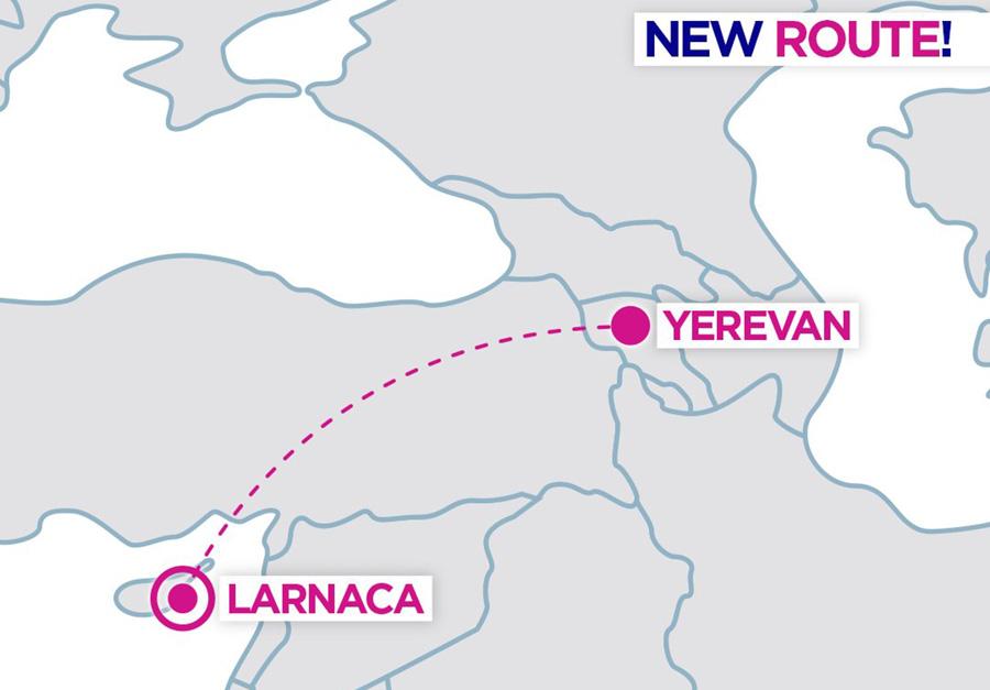 Карта нового напрямку Wizz Air