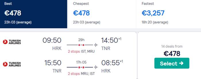 Харків - Антананаріву - Харків від €478