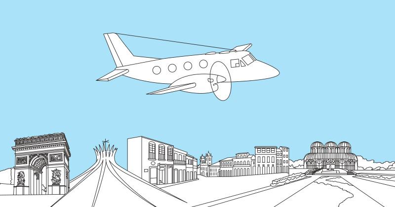 Розмальовка Embraer Bande