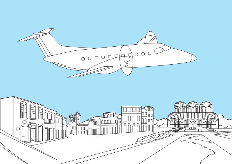 Розмальовка Embraer Brasilia