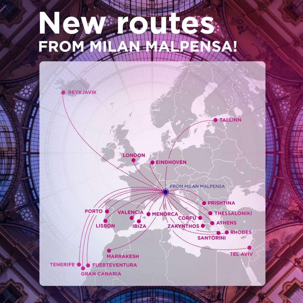Нові напрямки Wizz Air з Мілану