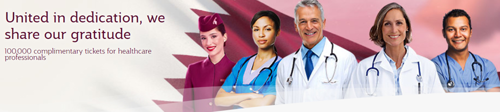 Qatar Airways 100 000 tickets for medics