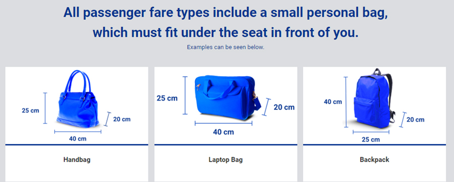 Маленька ручна поклажа Ryanair