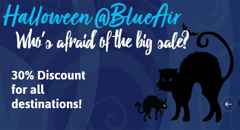 Розпродаж у Blue Air зі знижкою 30%