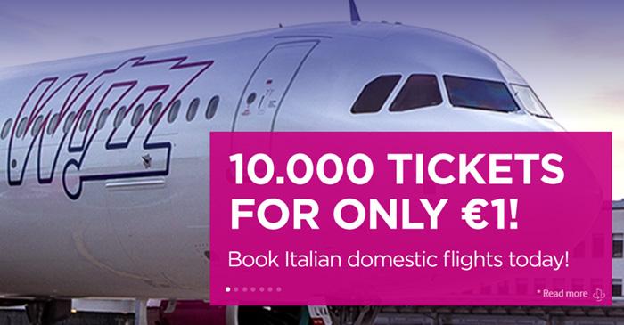 Розпродаж квитків Wizz Air в Італії