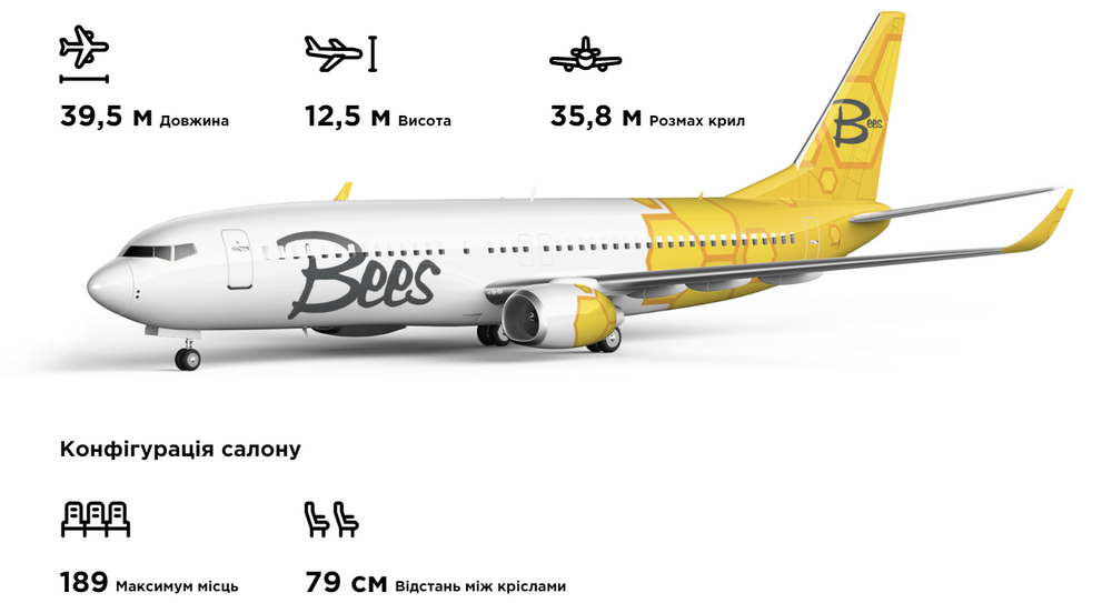 Флот Bees Airline
