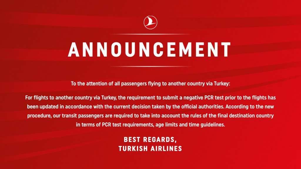 Оголошення Turkish Airlines