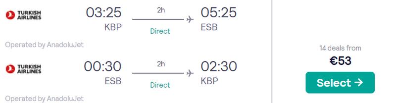 З Києва в Анкару від €53