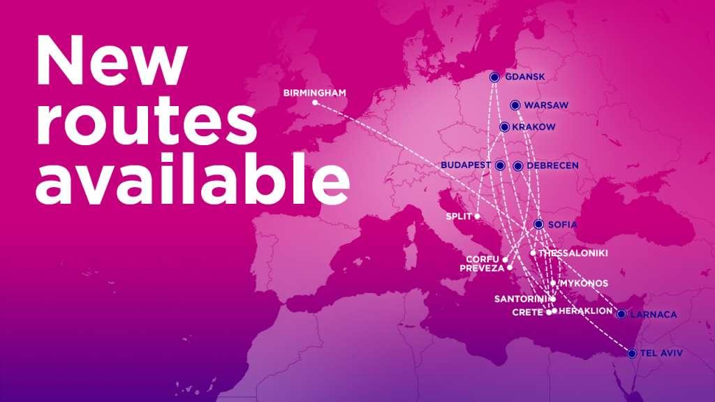 Нові напрямки Wizz Air