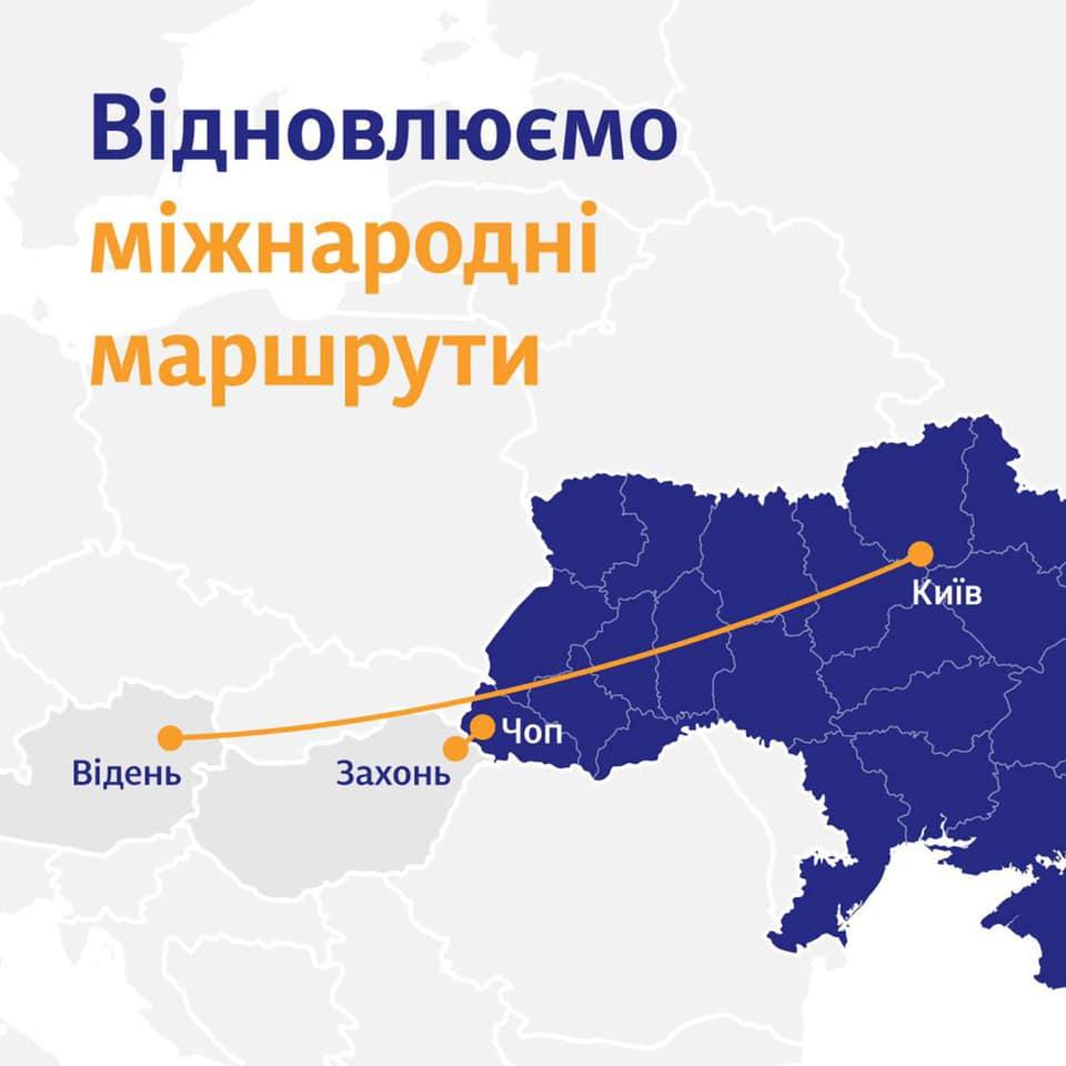 міжнародні маршрути УЗ