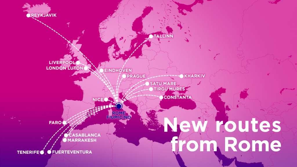 Нові напрямки Wizz Air з Риму