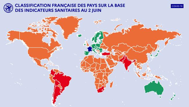 Карта карантинних зон Франції